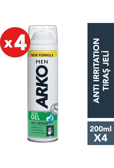 Arko Men Anti-Irritation Tıraş Jeli 4'lü Paket 200 ml