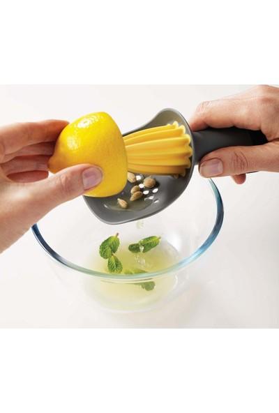 Modam Mutfak Pratik Süzgeçli Narenciye Sıkacağı Limon Sıkacağı Gri-Sarı
