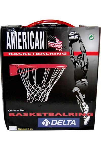 Delta Deluxe Basketbol Çemberi + Basketbol Filesi (Renkli Kutu)