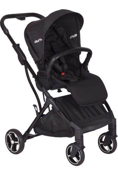 Kraft Neon 2 Yönlü Bebek Arabası - Siyah