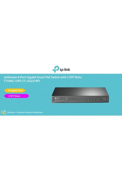 TP-Link T1500G-10PS (TL-SG2210P) JetStream 2SFP Slotlu 8-Port Gigabit Smart PoE Switch