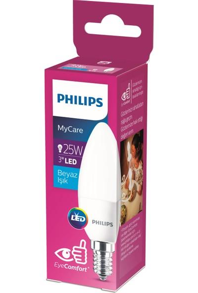Philips LEDCandle 25W B35 E14 Beyaz Işık