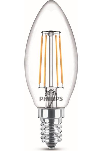 Philips LED Classic 40W B35 E14 Non-Dim 2700K 3'lü Ekopaket Led Filament Ampul
