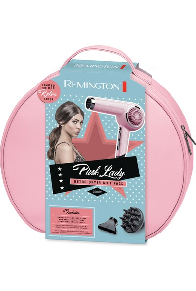 Remington D4110OP Pink Lady Retro Dryer Gift Pack