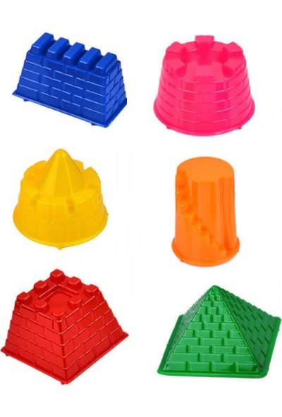 Hereos Kinetik Kum Oyun Kalıpları - Büyük Boy 6 Parça Kale Figürlü Kalıp