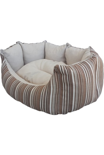Bronza Pearl Kedi-Köpek Yatağı No: 1 45x55x18 Bej