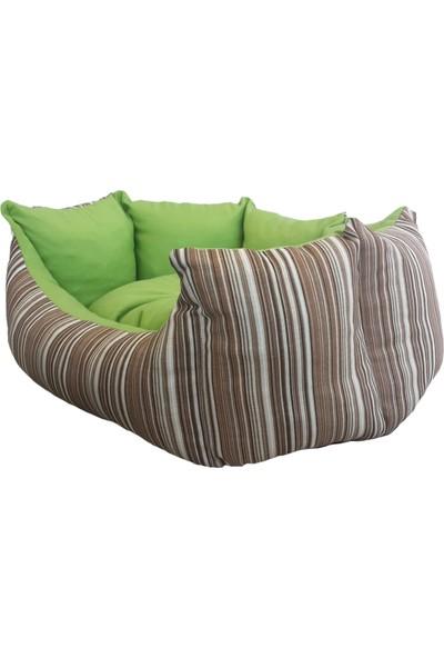 Bronza Pearl Kedi-Köpek Yatağı No: 1 45x55x18 Yeşil
