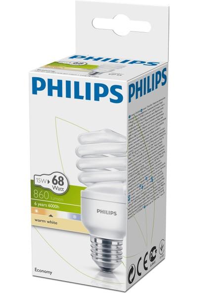 Philips Economy Twister 15W Sarı Işık E27