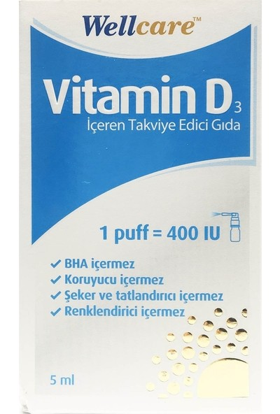Wellcare Vit D3 400 IU 5ml