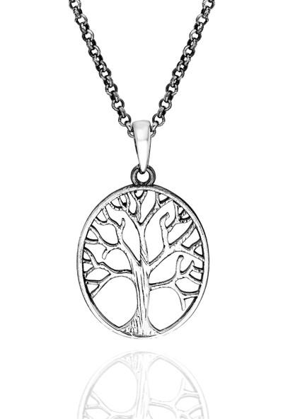 Chewel Chwllmgmskly0049 Gümüş Hayat Ağacı Erkek Kolye