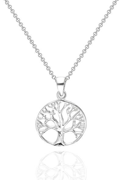 Chewel Chwllmgmskly0069 Gümüş Hayat Ağacı Erkek Kolye