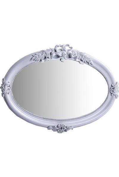 Porio Pr42-1024 - Beyaz Oval Ayna 104*74