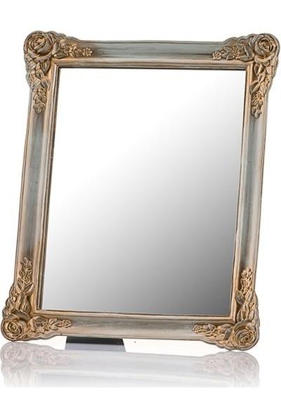 Porio M58-129 - Güllü Altın Ayaklı Ayna 30*25