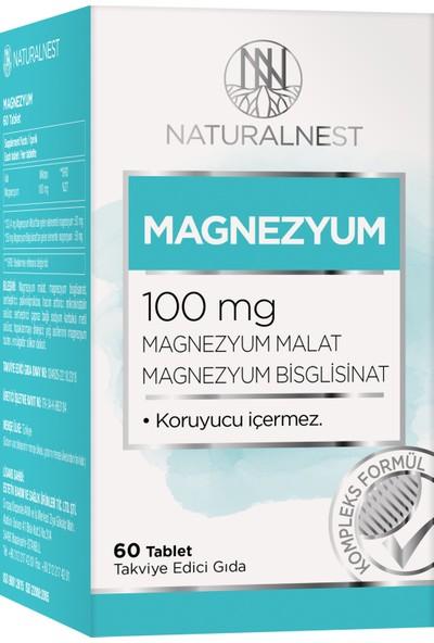 NaturalNest Magnezyum Malat Bisglisinat İçeren Takviye Edici Gıda 60 Tablet