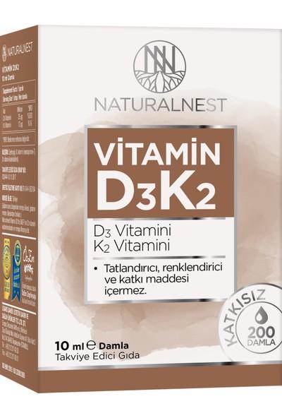 NaturalNest Vitamin D3 K2 Damla 10 ml Takviye Edici Gıda