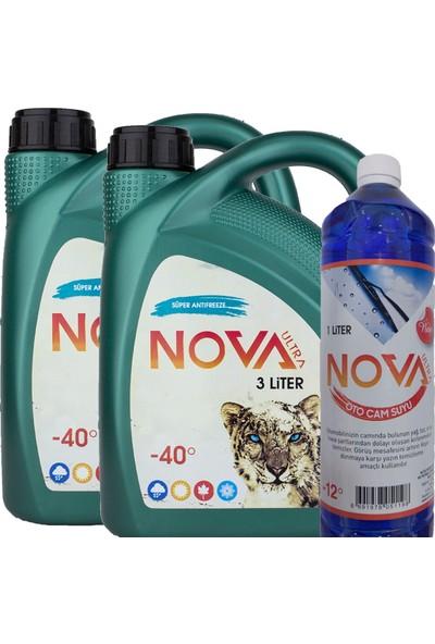 Nova ULTRA -40 Derece Yeşil Antifriz 6 lt Ve Cam Suyu