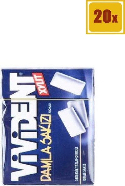 Vivident Damla Sakızı Aromalı Draje Sakız 23 gr 20'li Set