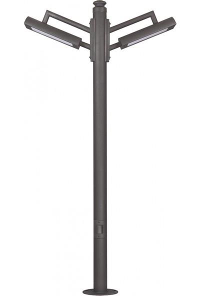 Avonni Bdr-68231-2Bsy-M2-Led Siyah Elektrostatik Toz Boyalı Bahçe Aydınlatma Direği