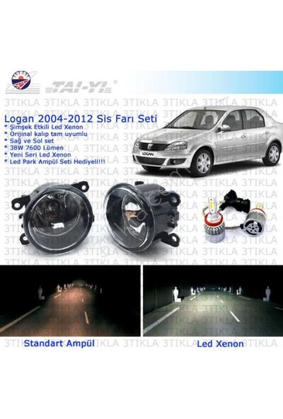 Dacia Logan Sedan 2004-2012 Beyaz Led Xenon Sis Farı Seti