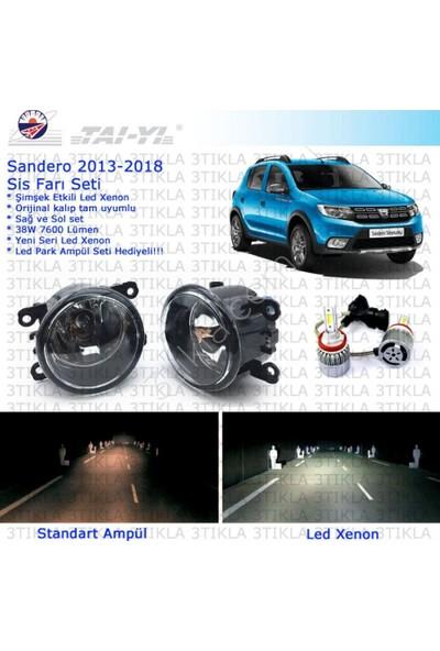 Dacia Sandero 2013-2018 Beyaz Led Xenon Sis Farı Seti