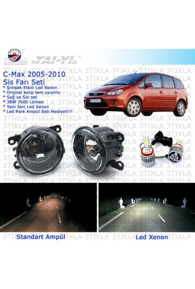 Ford C-Max 2005-2010 Beyaz Led Xenon Sis Farı Seti