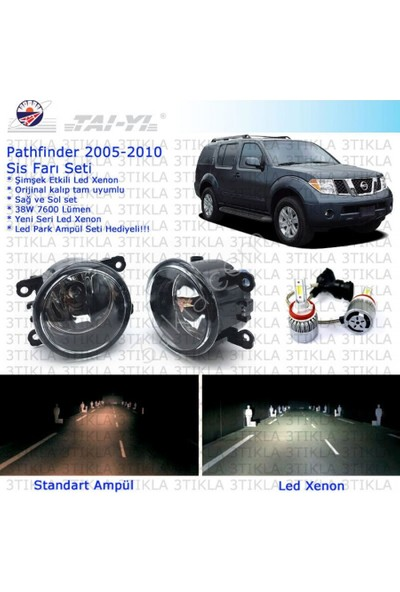 Nissan Pathfinder 2005-2010 Beyaz Led Xenon Sis Farı Seti