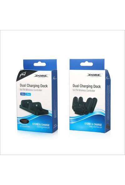 Dobe Sony Ps4 Şarj Stand Kiti 2 Li Dual Charging Model: Tp4-002
