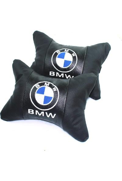 Bmw Logolu Lüx Boyun Yastığı Çift Suni Deri