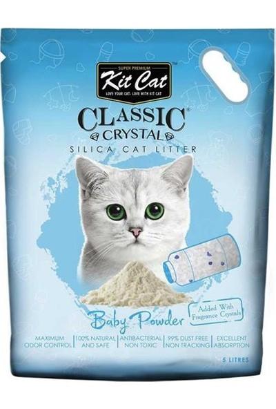 Kit Cat Bebek Pudrası Kokulu Silika Kedi Kumu 5lt