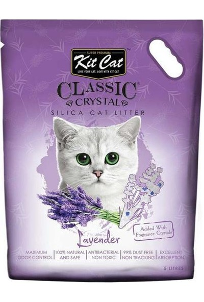 Kit Cat Lavanta Kokulu Silika Kedi Kumu 5lt