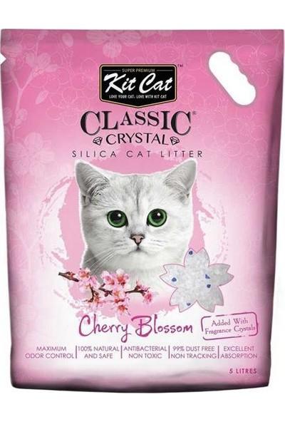 Kit Cat Kiraz Çiçeği Silika Kedi Kumu 5lt