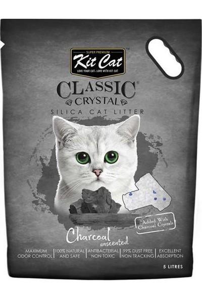 Kit Cat Charcoal Kömürlü Koku Emen Silika Kedi Kumu 5lt