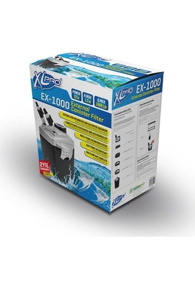 XL Pro Ex 1000 Dış Filtre 1000 LTS 22W Dolu
