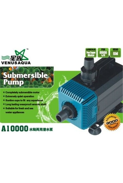 Venusaqua A 10000 Sump Motoru 5500Lh 135W