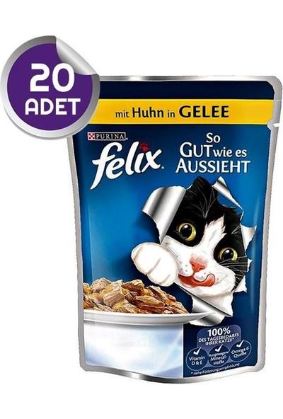 Felix Pouch Tavuk Etli Yaş Kedi Maması 100 Gr 20 Adet