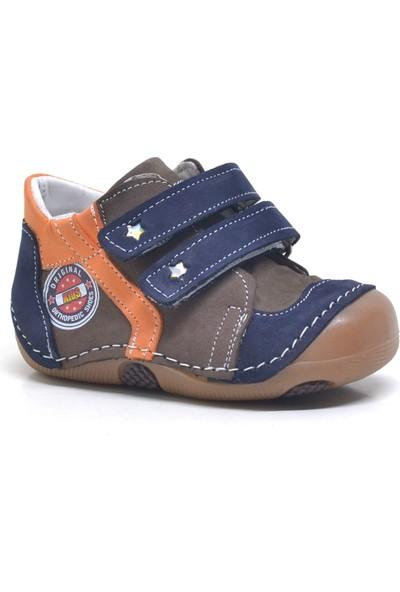 One Sweety Baby Kahverengi Hakiki Deri Ortopedik Mevsimlik Erkek Bebek Ayakkabı