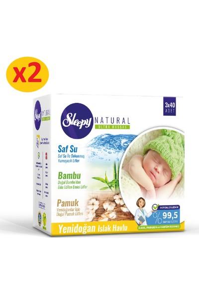 Sleepy Natural Yenidoğan Islak Pamuklu Bambu Havlu 6x40 (240 Yaprak)