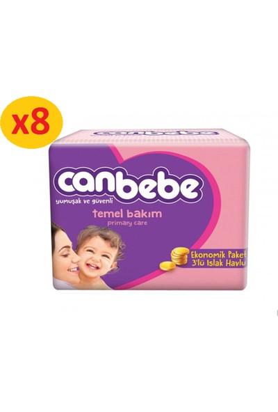 Canbebe 56'Lı 3`lü Islak Havlu 3x8 24 Paket (1344 Yaprak)
