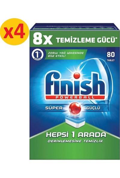 Finish Hepsi Bir Arada 320 Tablet Bulaşık Makinesi Deterjanı (80x4)