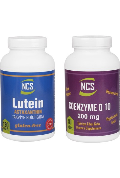 Ncs Lutein 15 Mg Astaxanthin NCS COENZYME Q-10 200 MG 2 ÜRÜN BİRDEN