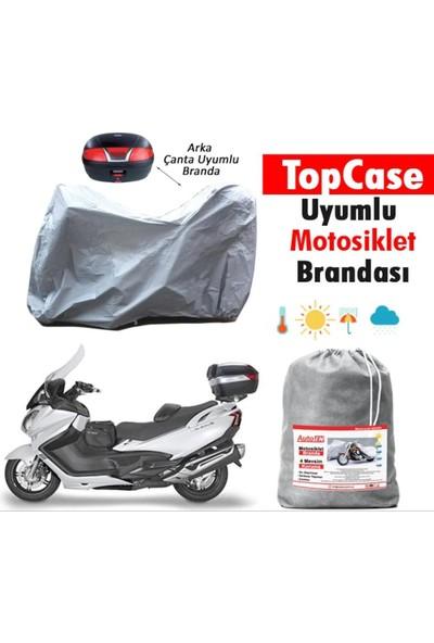 Autoen Yamaha NMax 125 Arka Çanta Uyumlu Motosiklet Brandası