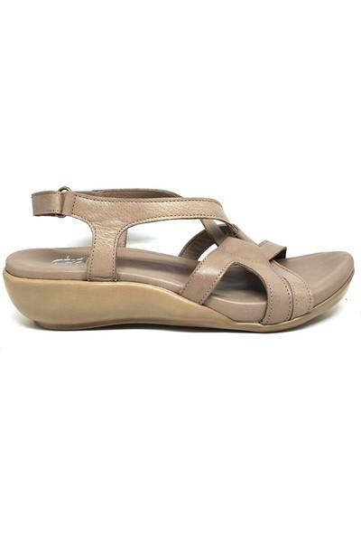 Shop And Shoes 007-1099037 Kadın Sandalet Vizon