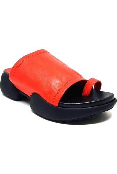 Shop And Shoes 212-9018 Kadın Terlik Kırmızı