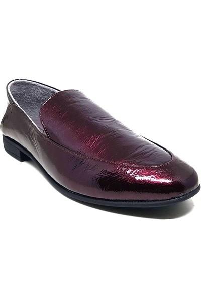 Shop And Shoes 212-9036 Kadın Ayakkabı Bordo Rugan