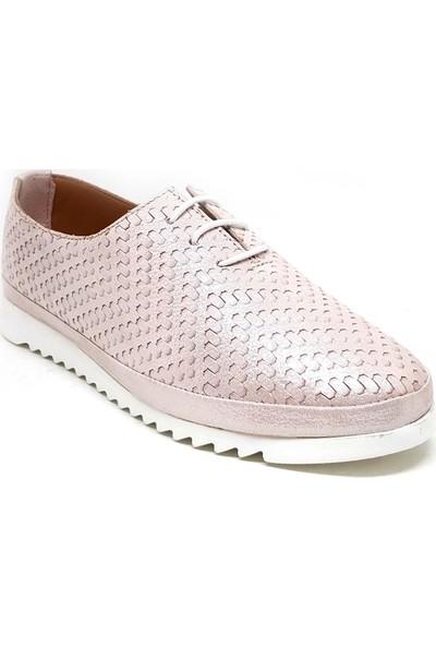 Shop And Shoes 197-509 Kadın Ayakkabı Pudra Sim