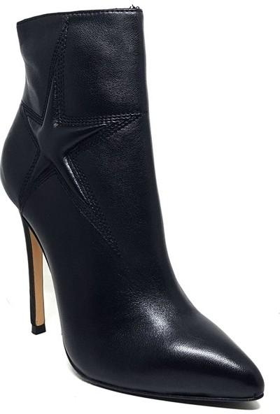 Shop And Shoes 104-203-B15 Kadın Bot Siyah