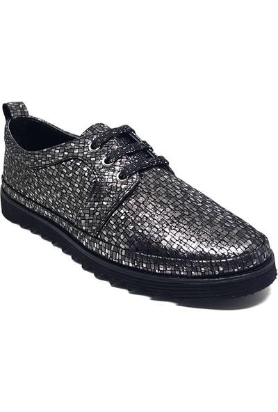 Shop And Shoes 214-752 Kadın Ayakkabı Platin