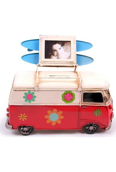 Mory Concept Dekoratif Metal Minibüs Çerçeveli Ve Kumbaralı