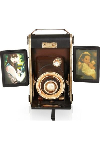Mnk Fotoğraf Makinesi Temalı Metal Çerçeve