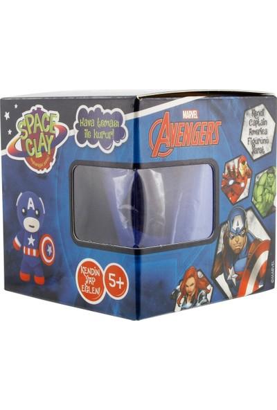 Space Clay Heykelciğini Yarat Avengers Kaptan Amerika Figür